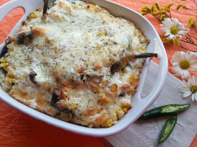 Poblano Rice Casserole Recipe