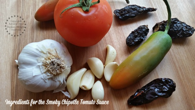 Ingredients for the smoky chipotle tomato sauce #ABRecipes