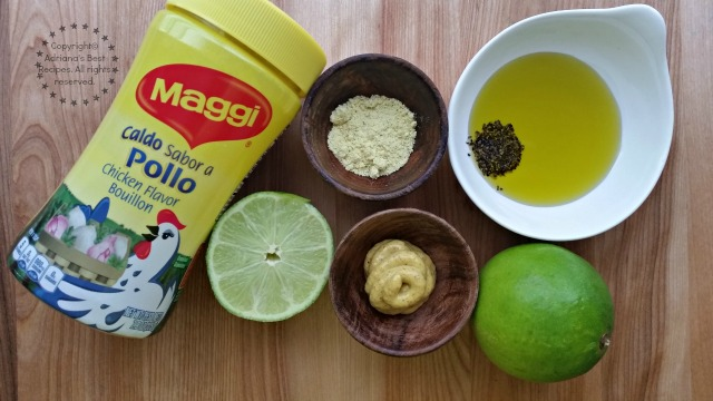 Ingredients for making the Mustard Vinaigrette with MAGGI Bouillon #FlavorYourSummer #ad