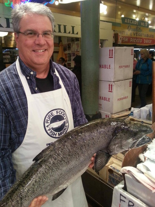 John Working at Pike's Place #MobileMemories #ad