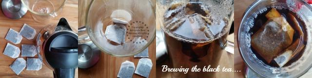 Brewing the black tea for the Boba Milk Tea recipe #TASTE15