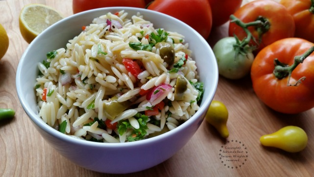 Greek Style Orzo Salad Recipe #ABRecipes
