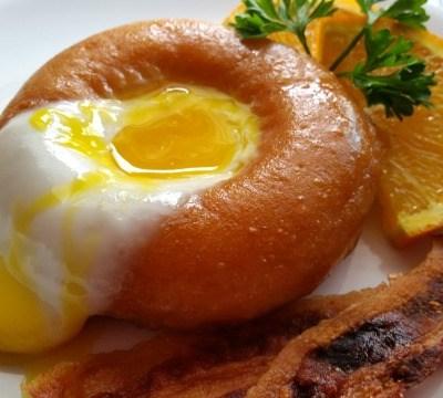 Sunny Side Up Doughnut Breakfast