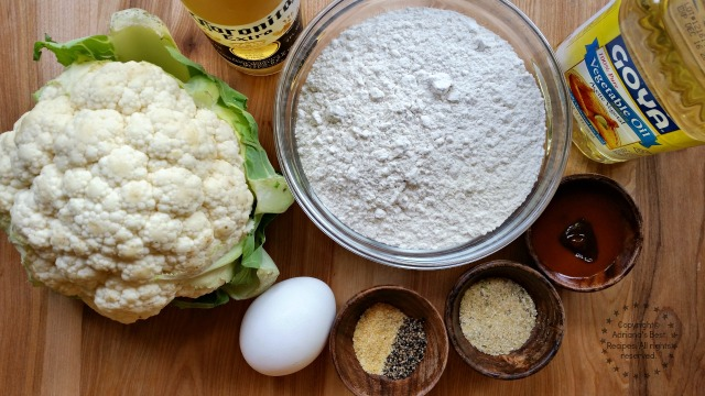 Ingredients for the Beer Battered Cauliflower Tacos #SoyParaSoy #ad