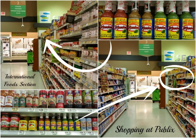 Shopping at Publix for El Yucateco Hot Sauces #KingOfFlavor #ad