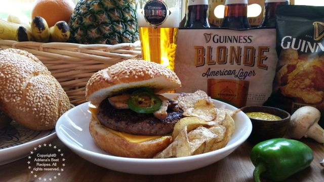 A tantalizing Beef Tenderloin Burgers Recipe paired with the new Guinness Blonde American Lager #BlondeBBQChallenge #ad
