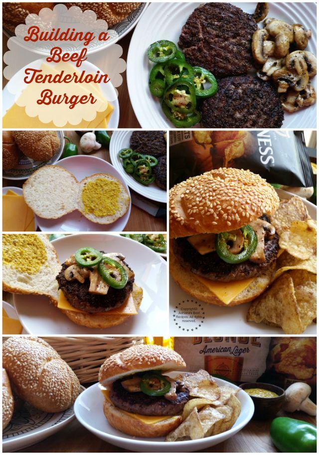 Building a tantalizing Beef Tenderloin Burger #BlondeBBQChallenge #ad