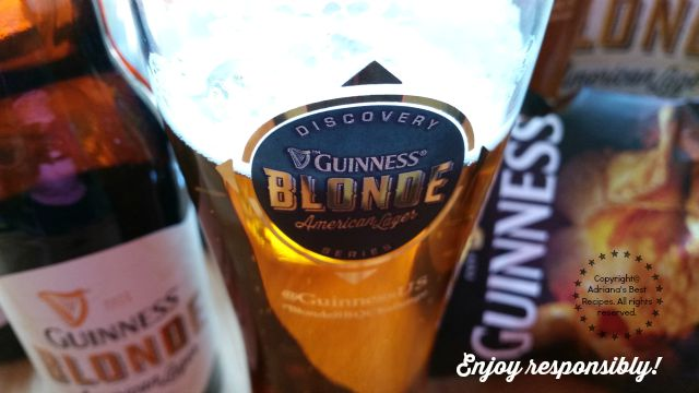 Cheers with NEW Guinness Blonde American Lager. Do Not Drink and Drive. #BlondeBBQChallenge #ad