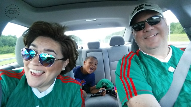 The Martin Family on our way to cheer for our team #7EFresh #ad