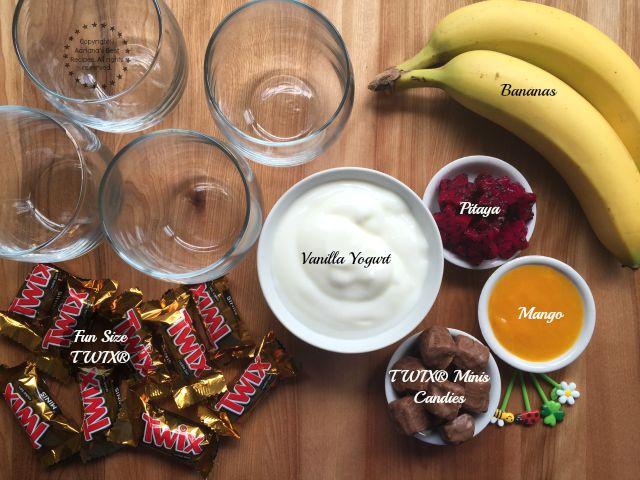 Ingredients for the tropical parfait a delicious treat for la merienda #FunSizeMerienda #ad