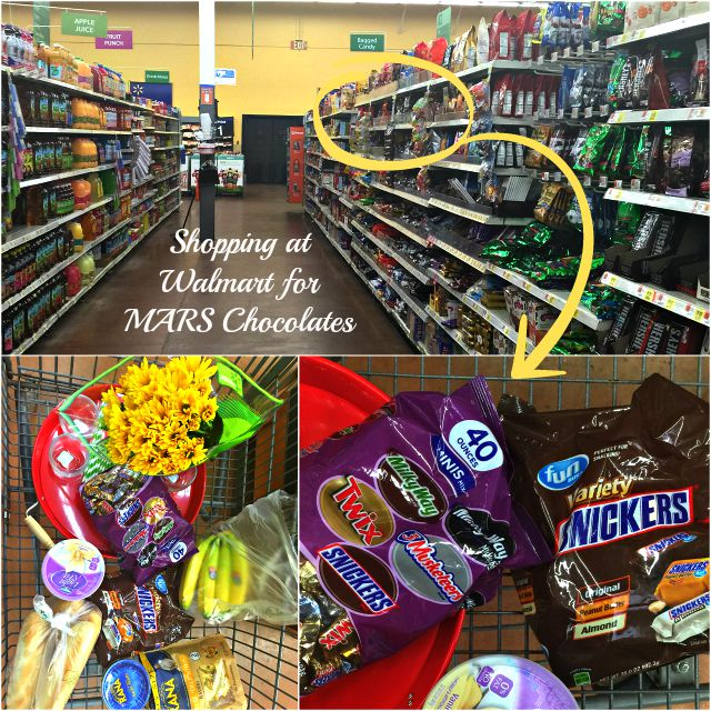 Shopping at Walmart for MARS Chocolates #FunSizeMerienda #ad