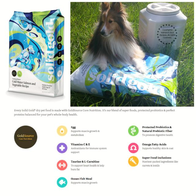 Solid Golds holistic pet foods are carefully formulated with nutritious ingredients that promote healthy mind body and free spirit #SolidGoldPets #ad