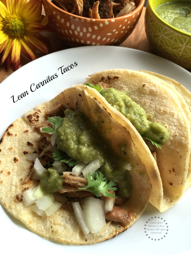 Lean Carnitas Tacos recipe for the fall #Porknostico #ad
