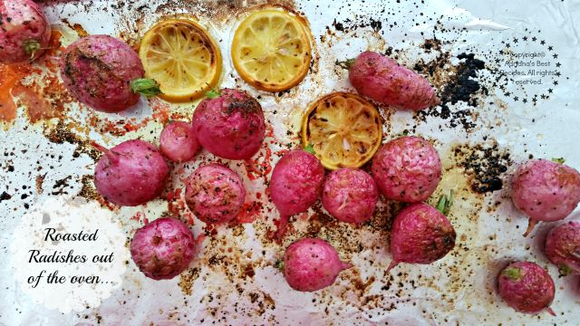 Roasted radishes fresh out of the oven  #ABRecipes