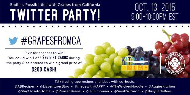 Grapes from California Twiter Party October 13 #GrapesFromCA #ad