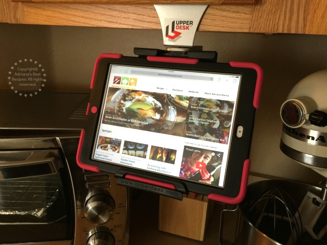 Having my iPad handy while in the kitchen makes my recipe development much more easier #UpperDesk #ad