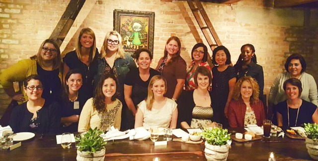 My friend farmers, Best Food Facts and bloggers enjoying with Chef Stephanie Izard of Girl and the Goat in Chicago