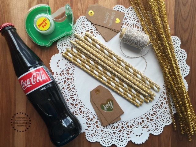 Materials needed for the Coca-Cola Angels #ShareHolidayJoy