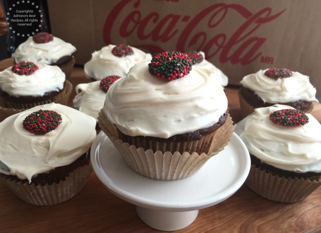 Mexican Chocolate Spice Cupcakes with Coca-Cola #ShareHolidayJoy