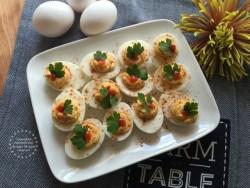 Recreating a Southern favorite making Sriracha Deviled Eggs