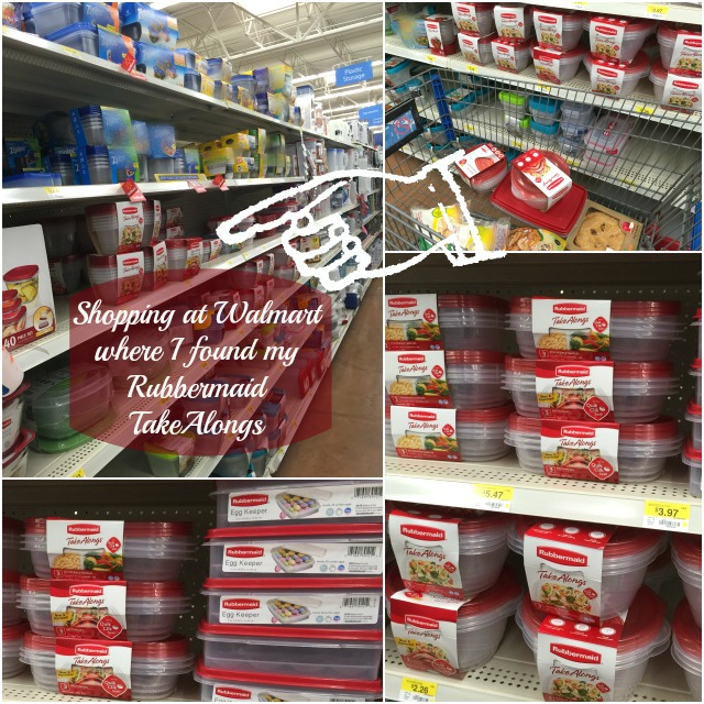 Shopping at Walmart where I found my Rubbermaid TakeAlongs #ShareTheHoliday