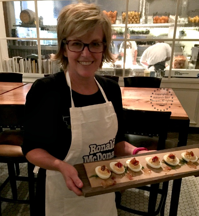 Chef Kathleen Blake from The Rusty Spoon made a Red Devil Stuffed Eggs