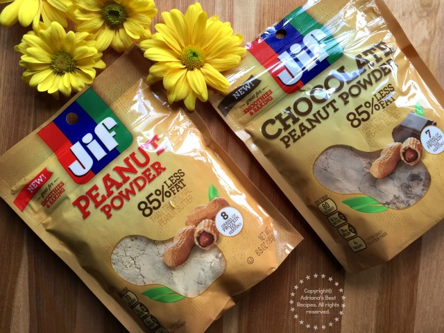 The Jif Peanut Powder family also includes Jif Chocolate Peanut Powder, that contains semisweet chocolate and a dash of sugar #StartWithJifPowder AD