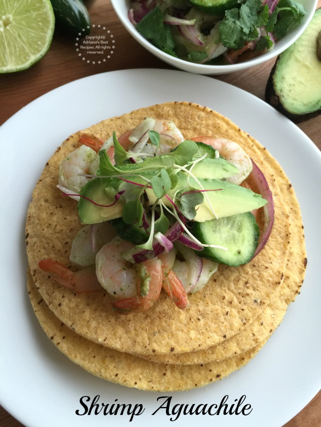 You can also serve the aguachile in tostadas topped with avocado slices
