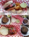 Making the Black Bean Burgers with Pico de Gallo and Avocado