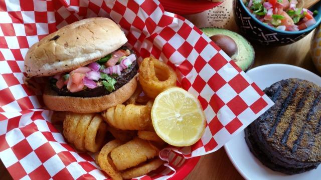 Recipe for the Black Bean Burgers with Pico de Gallo and Avocado