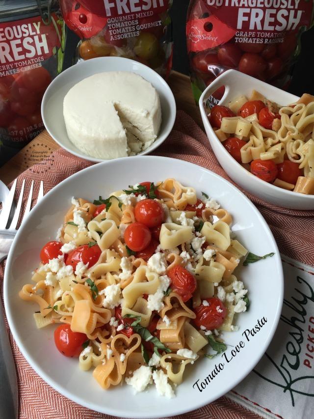 Tomato flavoured pasta recipe