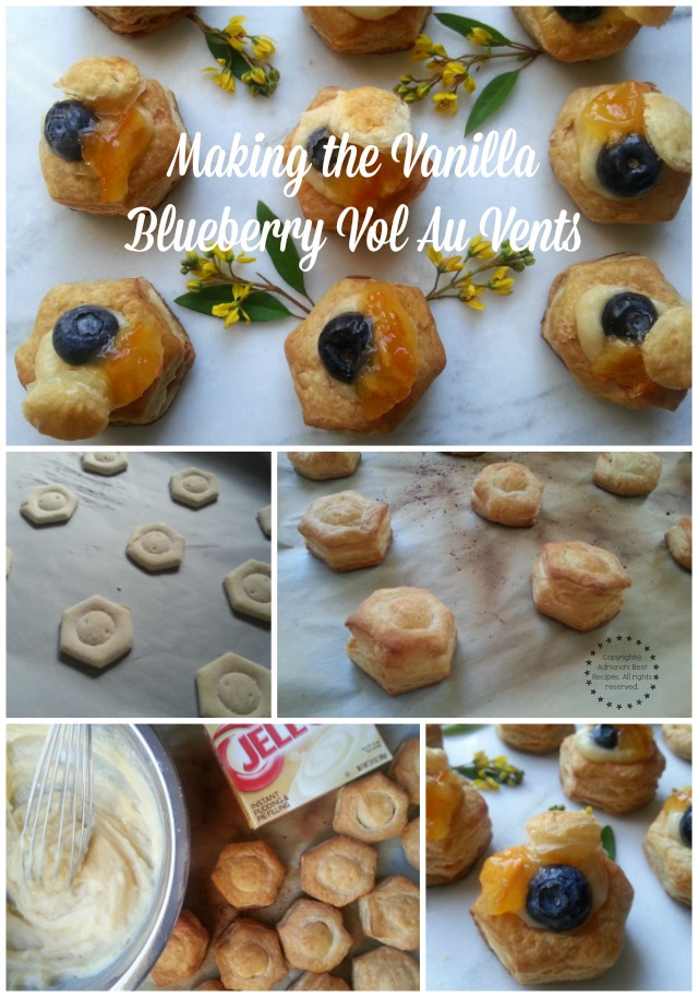 Making the Vanilla Blueberry Vol Au Vents