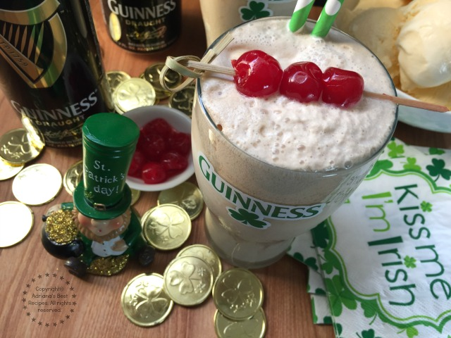 The Guinness Shake a nice treat to join the St Patricks celebrations