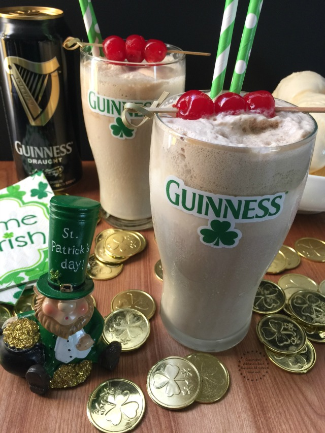 The Guinness Shake perfect cocktail for upcoming St Patricks Day or to enjoy on any hot day