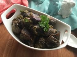 The recipe for Pesto Purple Potatoes is super easy to make