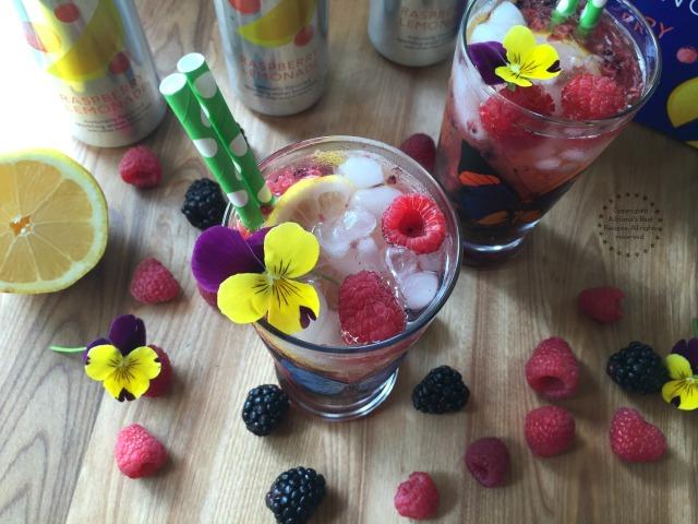 Enjoy this Berry Lemonade Sparkler with Dasani Sparkling