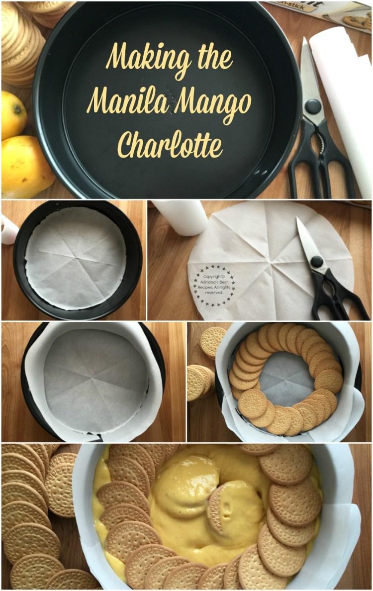 Making the Manila Mango Charlotte