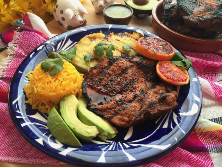 Mouthwatering recipe for Pastor Pork Chops using Smithfield All Natural Fresh Pork