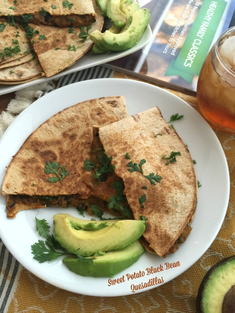 Sweet Potato Black Bean Quesadillas inspired by the Healthy Family Classics Cookbook from Produce for Kids