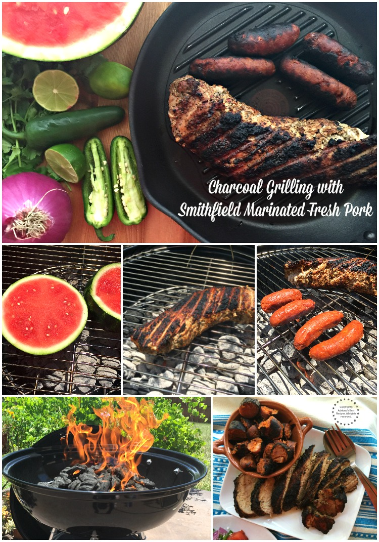 Charcoal grilling with Smithfield Marinated Fresh Pork