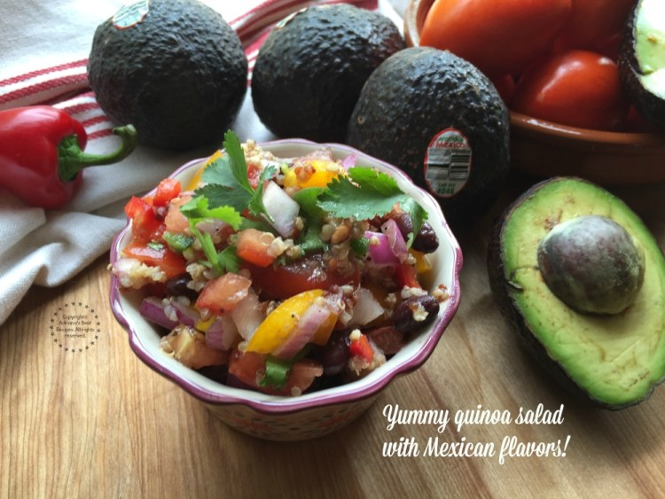 Yummy quinoa salad with Mexican flavors