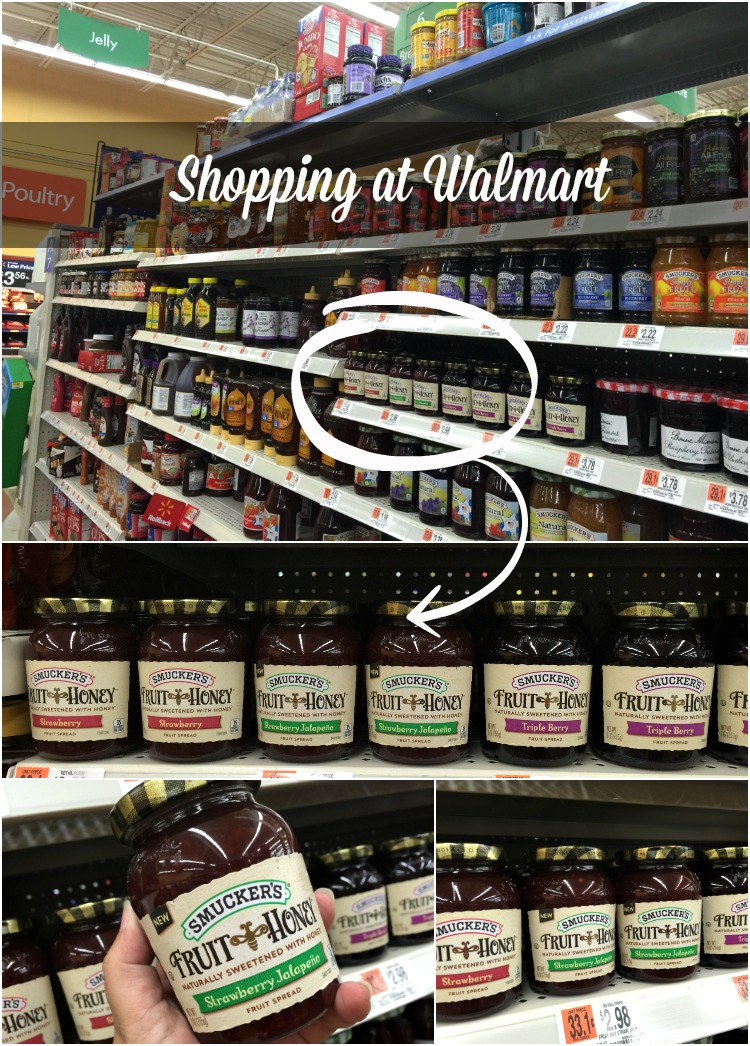 I found the NEW Smuckers Fruit Honey Strawberry Jalapeno Fruit Spread at my local Walmart