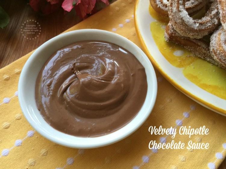 Velvety chipotle chocolate sauce