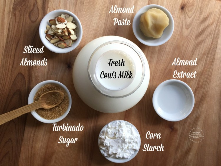Ingredients for the almond atole