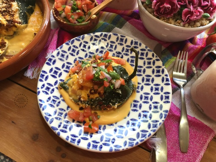 Macaroni Chiles Rellenos a Mexican American fusion