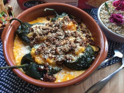 Macaroni Chiles Rellenos a wonderful addition to my Hispanic Heritage Month party