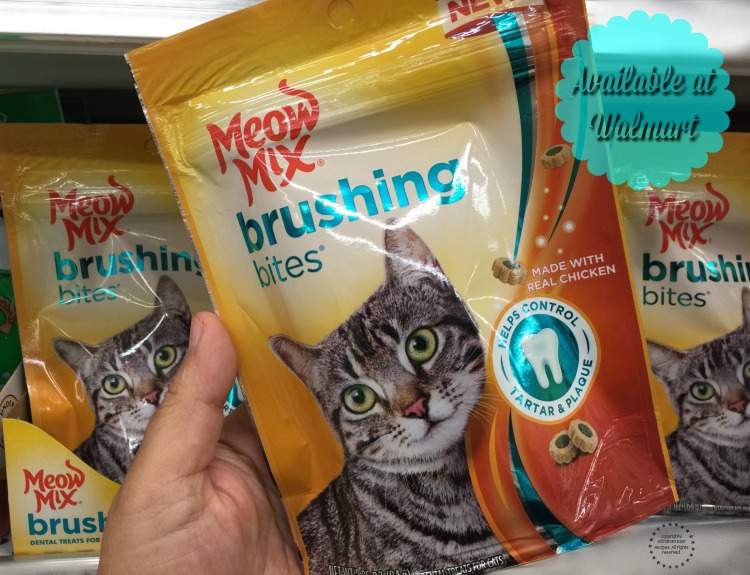 New Meow Mix Brushing Bites available at Walmart