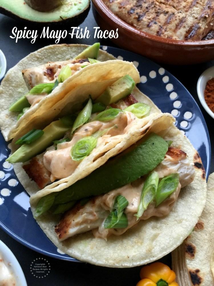 Tacos de Pescado con Mayonesa Picante, hechos con pescado Mahi Mahi y Mayonesa McCormick con Jugo de Limón