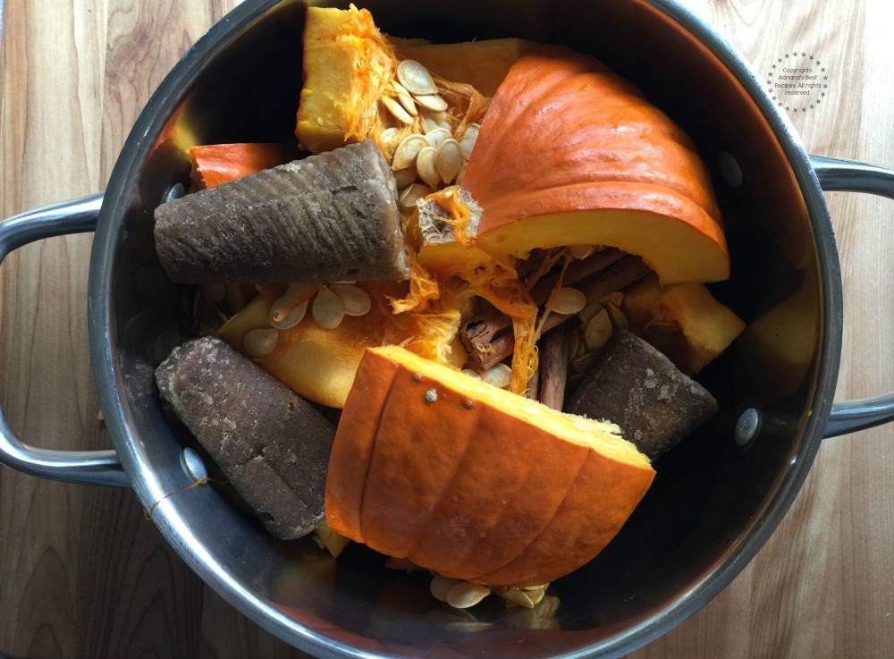 Cook the pumpkin in a large pot