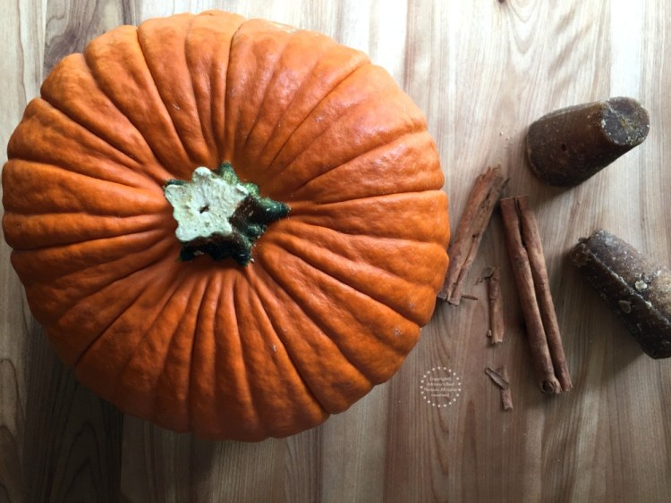 Ingredients for making candied pumpkin or calabaza en tacha
